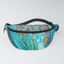 Doodle in blue Fanny Pack