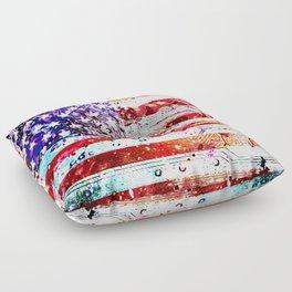 circuit board panel USA Floor Pillow