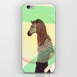 Zzz Zebra iPhone Skin
