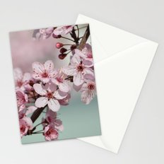 Pretty Pink Cherry Blossom Flowers Stationery Cards