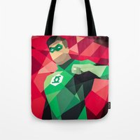 dc comics Tote Bags featuring DC Comics Green Lantern by Eric Dufresne