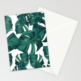 Monstera Leaves Pattern #3 #tropical #decor #art #society6 Stationery Cards