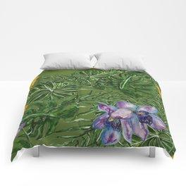 Tropical Pattern Big Leaves Comforters