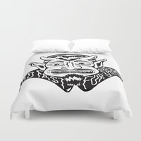 satan Duvet Covers featuring Too fast for Satan by Diogo Rebelo