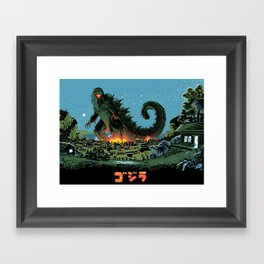Godzilla - Blue Edition Framed Art Print