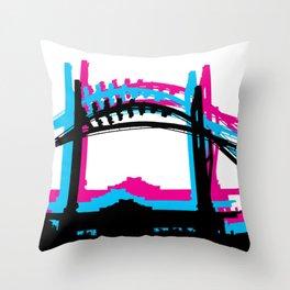 Rad Roller Coaster Design Throw Pillow