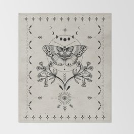 Magical Moth Throw Blanket