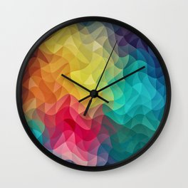Abstract Color Wave Flash Wall Clock