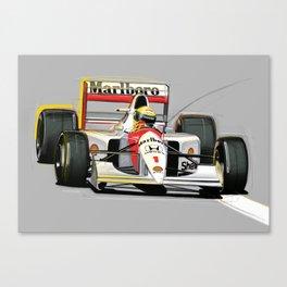 Ayrton Senna Canvas Print