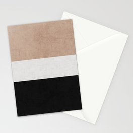 classic - natural, cream and black Stationery Cards