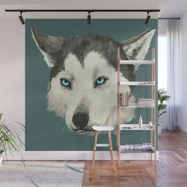 Husky Portrait Wall Mural