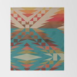 American Native Pattern No. 81 Throw Blanket