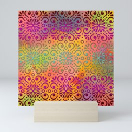 DP050-5 Colorful Moroccan pattern Mini Art Print