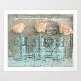Rose Trio Art Print