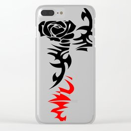 tattoo rose with torns, ed shereen tattoo Clear iPhone Case