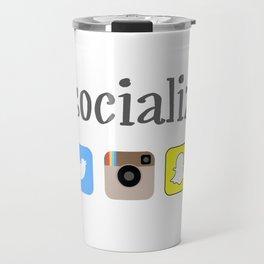 I socialize Travel Mug