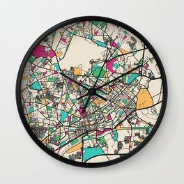 Colorful City Maps: Ho Chi Minh City, Vietnam Wall Clock