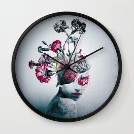 The spirit of flowers Wall Clock