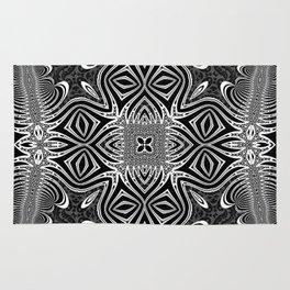 Black & White Tribal Symmetry Rug
