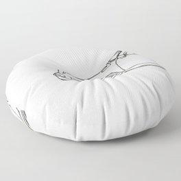 One-line Sportscar Floor Pillow