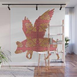 Vintage Flying Pig Wall Mural