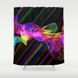 Abstract fifteen by Tony Roberts Shower Curtain