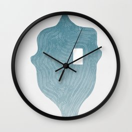 Looking through an abstract human face Wall Clock