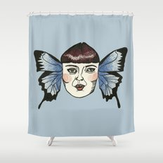 butterfly lady. Shower Curtain