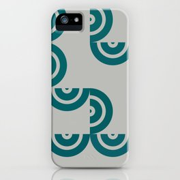 Hedgehog abstract geometric pattern with colorful shapes 201 iPhone Case