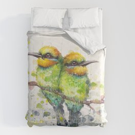 Family (Rainbow Bee Eaters) Comforters