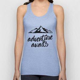 Adventure Awaits (mountains) Unisex Tank Top
