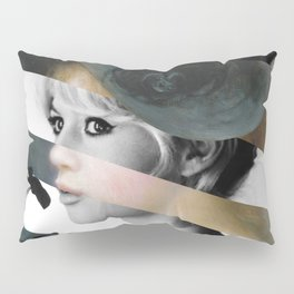 Renoir's Young Girl in a Pink and Black Hat & Brigitte Bardot  Pillow Sham