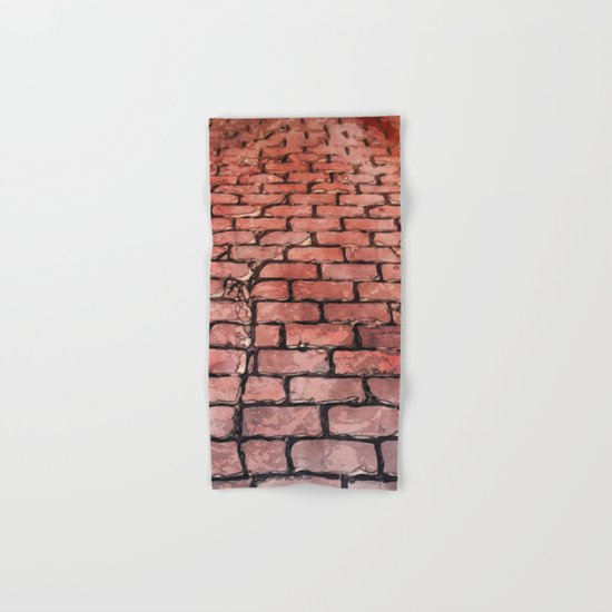 Vintage Brick Street Hand & Bath Towel
