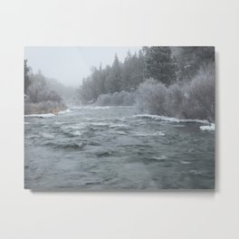 Winter On The Deschutes River Metal Print