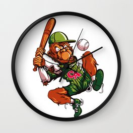 Baseball Monkey - Limerick Wall Clock