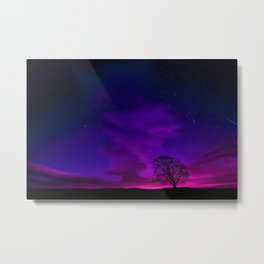 One Tree Hill, Purple Twilight Metal Print