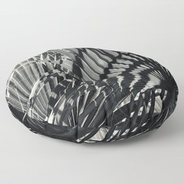 Exotic Shadows Dancing On Fan Palm Leaves Floor Pillow