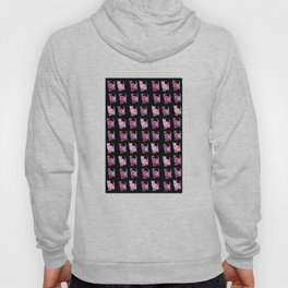 Black and pink cat pattern Hoody