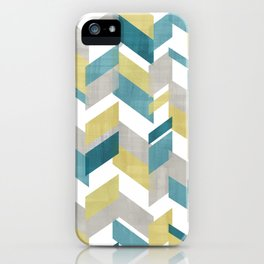 Bright geometrical pattern iPhone Case