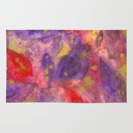 Autumn Leaves |Abstract with Gold Watercolor Rug