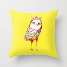 Pretty Owl. Kids decor - nursery decor - owl art Throw Pillow