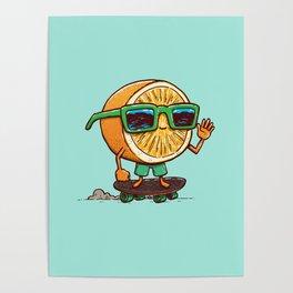 The Orange Skater Poster