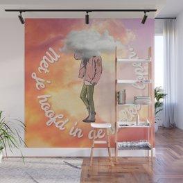 Met je hoofd in de wolken lopen. Wall Mural