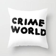 Crime World Logo Throw Pillow