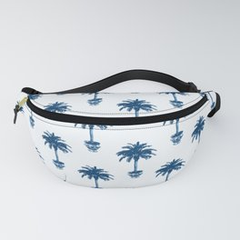 Potted Palm Tree, Cobalt Blue and White Fanny Pack