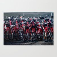 bikes Canvas Prints featuring bikes by The Botanist's Daughter