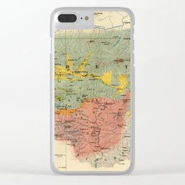 Vintage Geological Map of The Mount Everest Region (1921) Clear iPhone Case