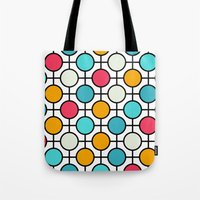 polka dots Tote Bags featuring Polka Dots by Dizzy Moments
