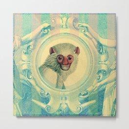 Monkey Banknote Metal Print
