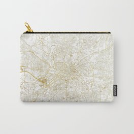 Manchester Map Gold Carry-All Pouch